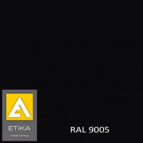 Краска порошковая полиэфирная Etika Tribo Черный янтарь RAL 9005 шагрень