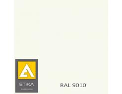 Краска порошковая полиэфирная Etika Tribo Белая RAL 9010 глянцевая