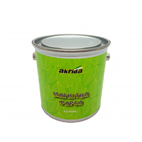 Краска интерьерная магнитная Akrida - изображение 2 - интернет-магазин tricolor.com.ua