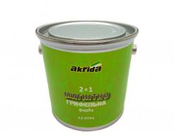 Интерьерная магнитно-грифельная краска Akrida 2 в 1 черная - изображение 2 - интернет-магазин tricolor.com.ua