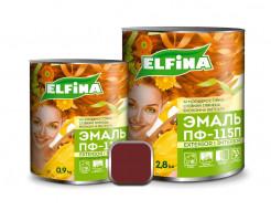 Атмосферостойкая эмаль ПФ-115 Elfina вишневая