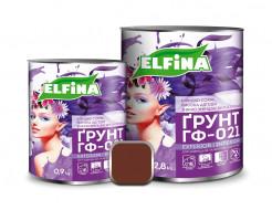 Грунт по металлу ГФ-021 Elfina красно-коричневый