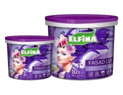 Краска фасадная Фасад Lux Elfina (белая матовая)