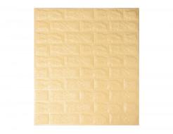 Самоклеящаяся декоративная 3D панель «Кирпич» 5 мм #9 бежевая - интернет-магазин tricolor.com.ua