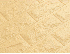 Самоклеящаяся декоративная 3D панель «Кирпич» 5 мм #9 бежевая - изображение 3 - интернет-магазин tricolor.com.ua