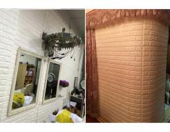 Самоклеящаяся декоративная 3D панель «Кирпич» 5 мм #9 бежевая - изображение 4 - интернет-магазин tricolor.com.ua