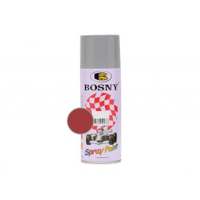 Акриловая аэрозольная краска Bosny RAL3002 красный насыщенный