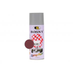 Акриловая аэрозольная краска Bosny RAL3004 бордовый