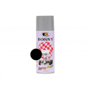 Акриловая аэрозольная краска Bosny RAL9005 черный глянцевый
