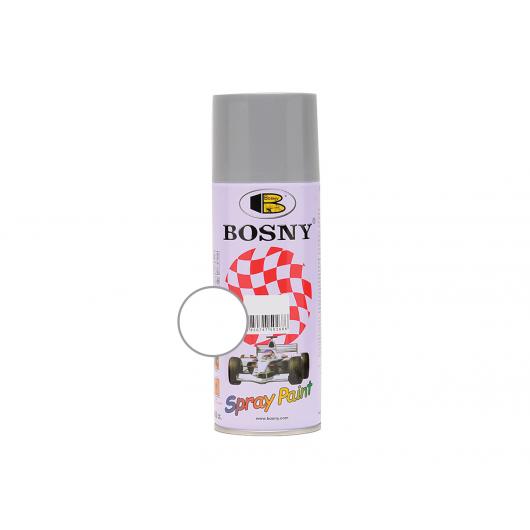 Акриловая аэрозольная краска Bosny RAL9003 белый глянцевый