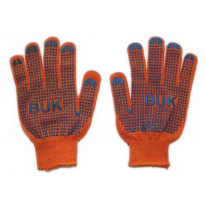 Перчатки трикотажные Бук с ПВХ точкой 8412 оранжевые - изображение 2 - интернет-магазин tricolor.com.ua
