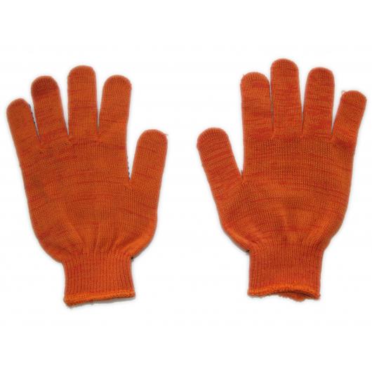 Перчатки трикотажные Бук с ПВХ точкой 8412 оранжевые - изображение 3 - интернет-магазин tricolor.com.ua