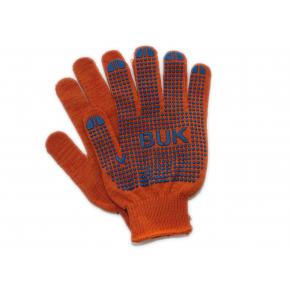 Перчатки трикотажные Бук с ПВХ точкой 8412 оранжевые - интернет-магазин tricolor.com.ua