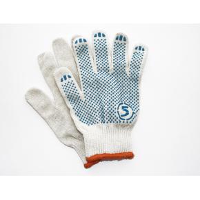 Перчатки трикотажные Бук с ПВХ точкой 8510 белые