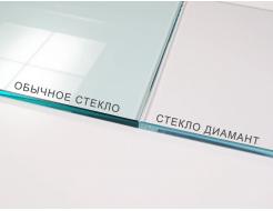 Стеклянная полка в форме H диамант матовая, без крепления (8/200 мм) - изображение 2 - интернет-магазин tricolor.com.ua