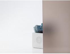 Стеклянная полка в форме H бронза матовая, без крепления (8/200 мм) - изображение 2 - интернет-магазин tricolor.com.ua