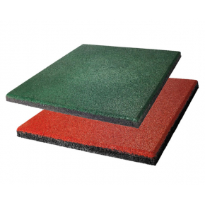 Резиновая плитка Eco Gumka 500x500x20 мм зеленая - изображение 4 - интернет-магазин tricolor.com.ua