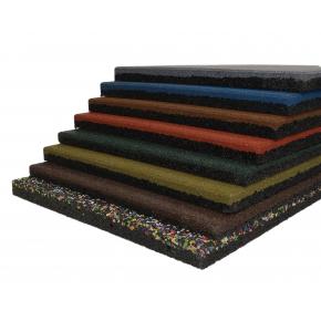Резиновая плитка Eco Gumka 500x500x20 мм коричневая - изображение 2 - интернет-магазин tricolor.com.ua