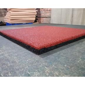 Резиновая плитка Eco Gumka 500x500x30 мм красная - изображение 2 - интернет-магазин tricolor.com.ua