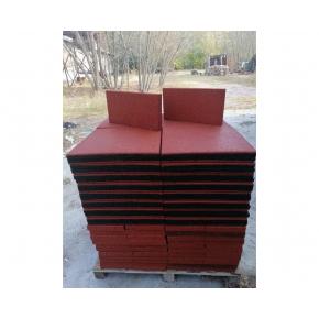 Резиновая плитка Eco Gumka 500x500x30 мм красная - изображение 4 - интернет-магазин tricolor.com.ua