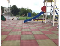 Резиновая плитка Eco Gumka 500x500x30 мм красная - изображение 3 - интернет-магазин tricolor.com.ua