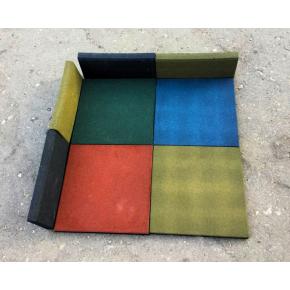 Резиновая плитка Eco Gumka 500x500x30 мм зеленая - изображение 4 - интернет-магазин tricolor.com.ua