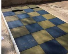Резиновая плитка Eco Gumka 500x500x30 мм желтая - изображение 2 - интернет-магазин tricolor.com.ua