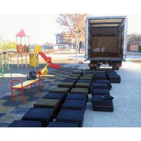Резиновая плитка Eco Gumka 500x500x30 мм желтая - изображение 5 - интернет-магазин tricolor.com.ua