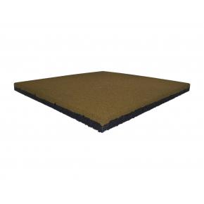 Резиновая плитка Eco Gumka 500x500x30 мм желтая - интернет-магазин tricolor.com.ua