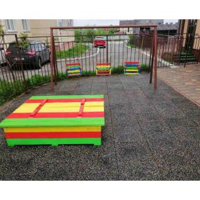Резиновая плитка Zefir 500x500x20 разноцветная - изображение 2 - интернет-магазин tricolor.com.ua