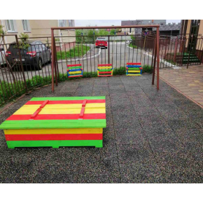 Резиновая плитка Zefir 500x500x30 разноцветная - изображение 6 - интернет-магазин tricolor.com.ua