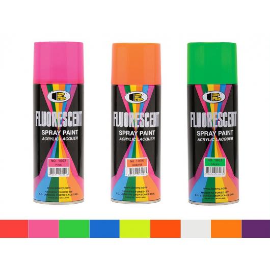 Аэрозольная акриловая краска Bosny с флуоресцентным эффектом оранжевая - изображение 3 - интернет-магазин tricolor.com.ua