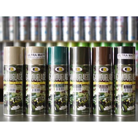 Аэрозольная акриловая камуфляжная краска Bosny коричневая - изображение 2 - интернет-магазин tricolor.com.ua