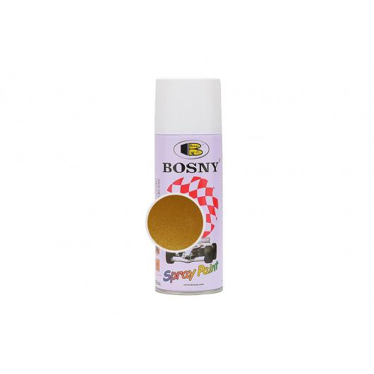 Аэрозольная акриловая краска Bosny c эффектом металлик золотая бронза