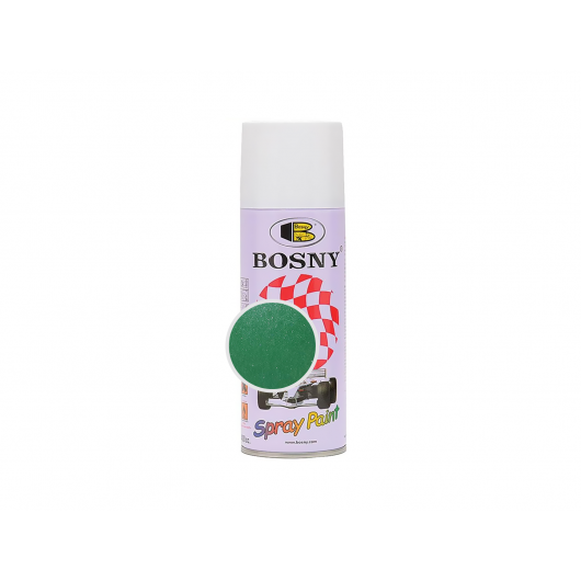 Аэрозольная акриловая краска Bosny c эффектом металлик светло-зеленая