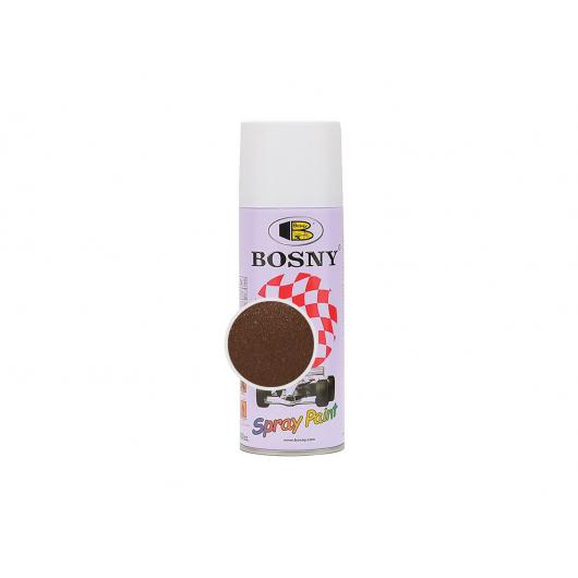 Аэрозольная акриловая краска Bosny c эффектом металлик коричневая