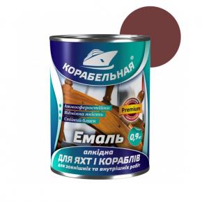 Эмаль алкидная Корабельная ПФ-115 для яхт и кораблей красно-коричневая - интернет-магазин tricolor.com.ua