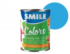Эмаль алкидная Smile ПФ-115 Голубая - интернет-магазин tricolor.com.ua