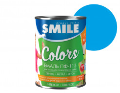 Эмаль алкидная Smile ПФ-115 Ярко-голубая - интернет-магазин tricolor.com.ua
