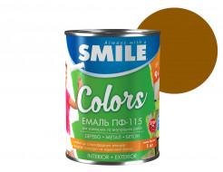 Эмаль алкидная Smile ПФ-115 Желто-коричневая - интернет-магазин tricolor.com.ua