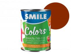 Эмаль алкидная Smile ПФ-115 Красно-коричневая - интернет-магазин tricolor.com.ua