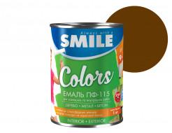 Эмаль алкидная Smile ПФ-115 Темно-коричневая - интернет-магазин tricolor.com.ua