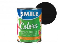 Эмаль алкидная Smile ПФ-115 Черная - интернет-магазин tricolor.com.ua