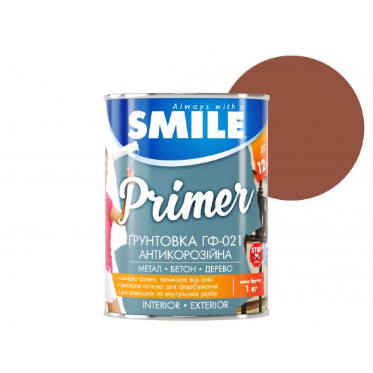 Грунт алкидный Smile ГФ-021 по дереву и металлу красно-коричневый