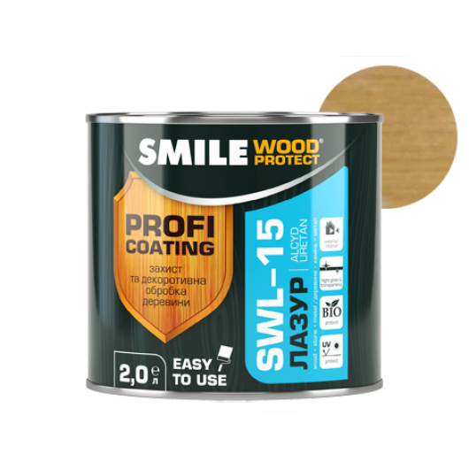 Лазурь алкидная Smile Wood Protect SWL-15 Дуб