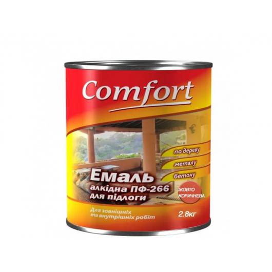 Эмаль алкидная Comfort ПФ-266 для пола желто-коричневая