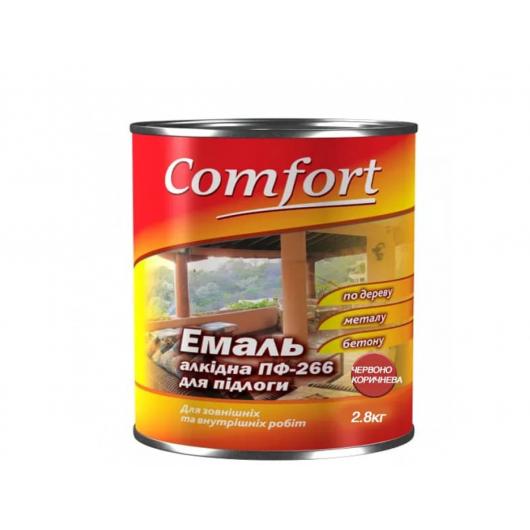 Эмаль алкидная Comfort ПФ-266 для пола красно-коричневая