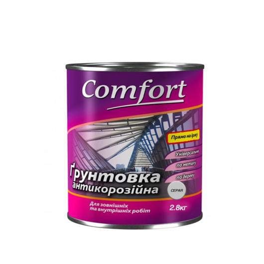 Грунт Comfort ГФ-021 3 в 1 антикоррозионный Серый