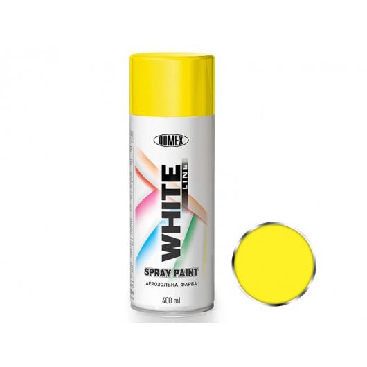 Аэрозоль акриловый Domex White line Лимонно-желтый RAL 1016 - интернет-магазин tricolor.com.ua