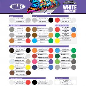 Аэрозоль акриловый Domex White line Желтый RAL 1003 - изображение 2 - интернет-магазин tricolor.com.ua